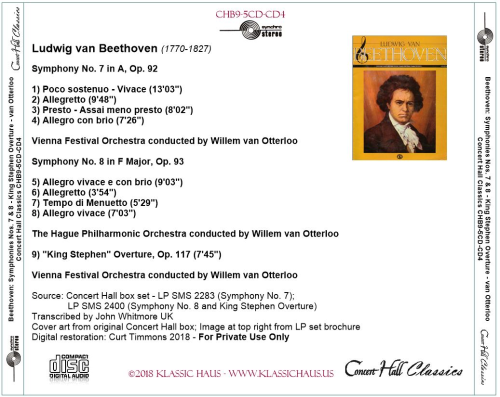 First Additional product image for - Beethoven: Symphonies No. 7 & 8 - Willem van Otterloo