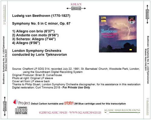 First Additional product image for - Beethoven: Symphony No. 5 in C minor, Op. 67 - London Symphony Orchestra/Loris Tjelnavorian