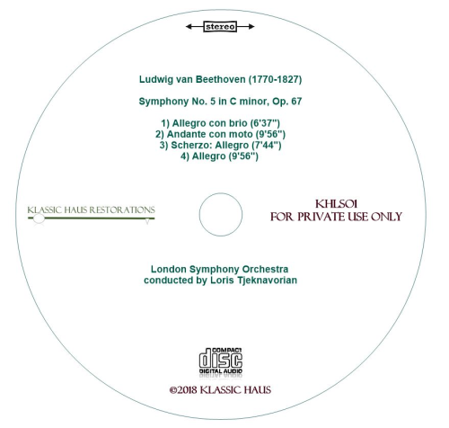 Third Additional product image for - Beethoven: Symphony No. 5 in C minor, Op. 67 - London Symphony Orchestra/Loris Tjelnavorian