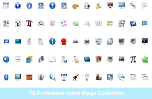 Second Additional product image for - 78 Preference Icons Mega Collection