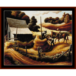 haystack - americana cross stitch pattern by cross stitch collectibles