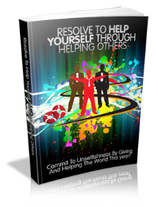 resolve to help yourself through helping others