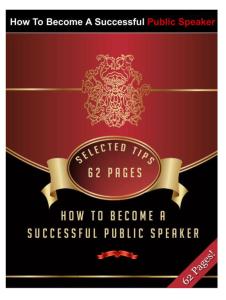 How To Become A Successful Public Speaker | eBooks | Self Help