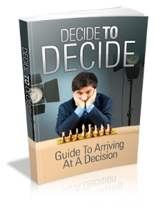 Decide To Decide   eBooks   Self Help
