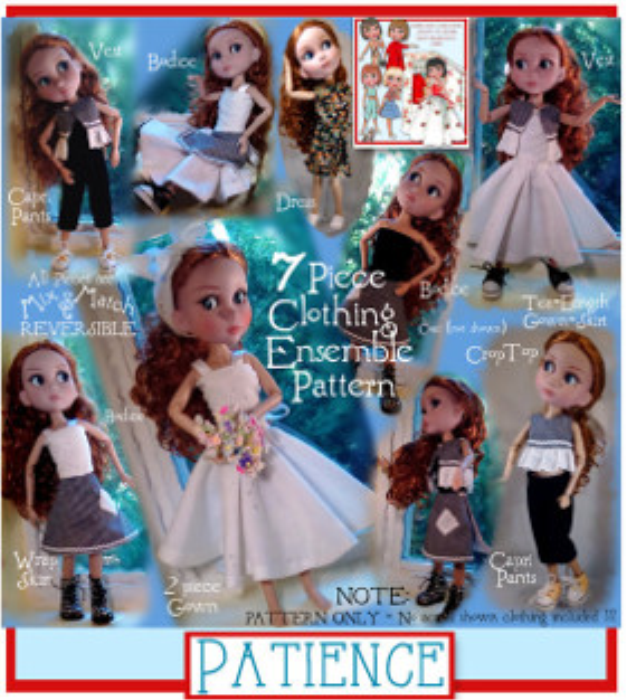 """First Additional product image for - Patience Doll Wardrobe (Tonner 14"""")"""