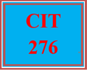 CIT 276 Week 3 Individual: Configure and Verify IPv4 and IPv6 Access Lists for Traffic Filtering | eBooks | Education