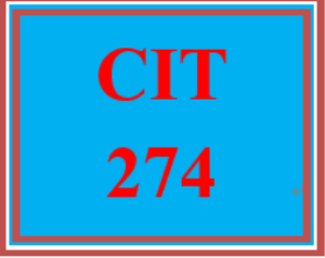 CIT 274 Week 1 Individual: STP Implementation | eBooks | Education