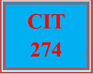 CIT 274 Week 2 Individual: Network Redundancy | eBooks | Education