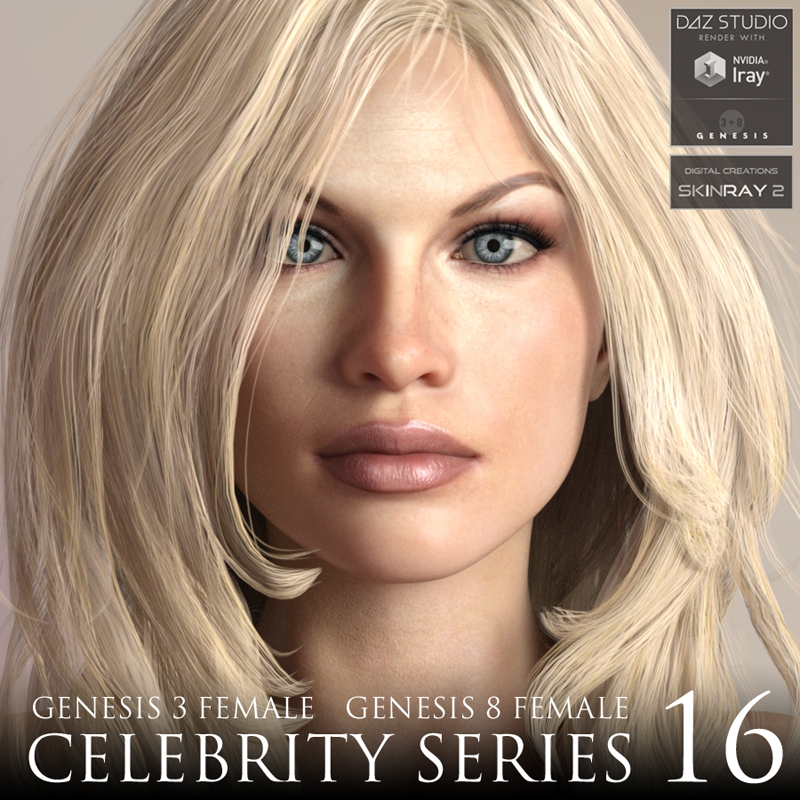 Celebrity Series 16 for Genesis 3 and Genesis 8 Female