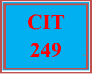 cit 249 week 1 individual: initial router configuration
