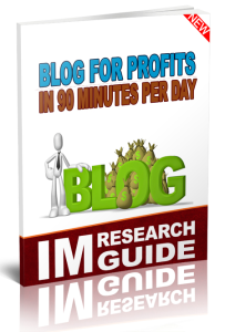 blog for profits in 90 minutes per day