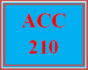 ACC 210 Entire Course | eBooks | Education