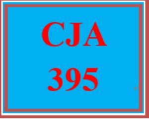 CJA 395 Entire Course | eBooks | Education