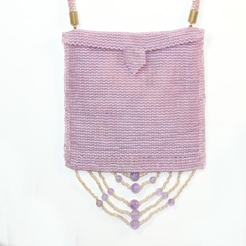 "Second Additional product image for - Pattern-Amulet Bag ""Wood Sorrel"""
