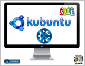 kubuntu 18.04, 64bit live boot & installation * digital download *