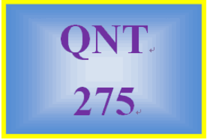 qnt 275 week 1 i1 statistics in business