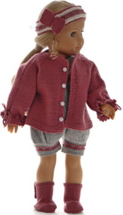 First Additional product image for - DollKnittingPattern 0191D ANE - Jacket, romper, hairband and shoes-(English)