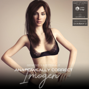 Anatomically Correct: Imogen for Genesis 3 and Genesis 8 Female | Software | Design