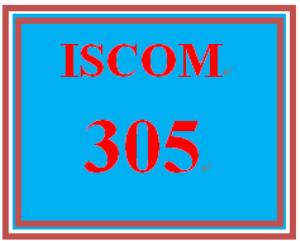 iscom 305 week 2 team project plan