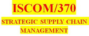 ISCOM 370 Week 2 Aspects of a Supply Chain | eBooks | Education