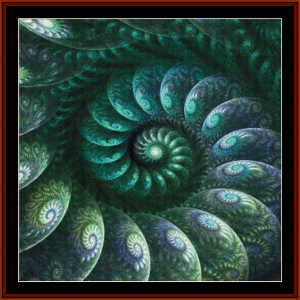 Fractal 687 cross stitch pattern by Cross Stitch Collectible   Crafting   Cross-Stitch   Other