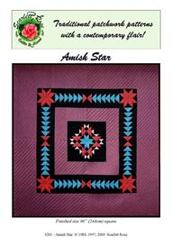 amish star pieced quilt pattern