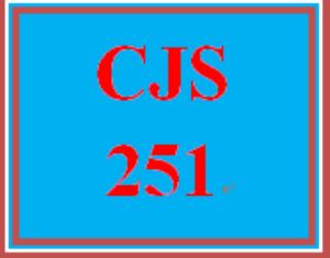 CJS 251 Entire Course | eBooks | Education