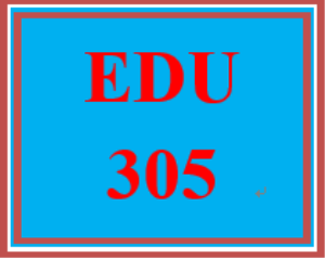 edu 305 week 5 educational program design part iv