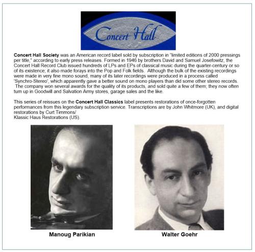 First Additional product image for - Mozart: Violin Concerti Nos. 1 & 5 - Manoug Parikian, violin