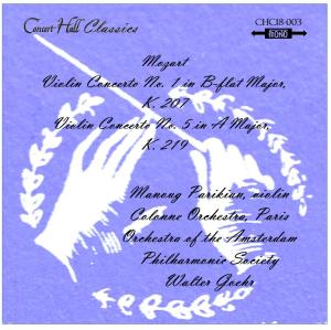 mozart: violin concerti nos. 1 & 5 - manoug parikian, violin