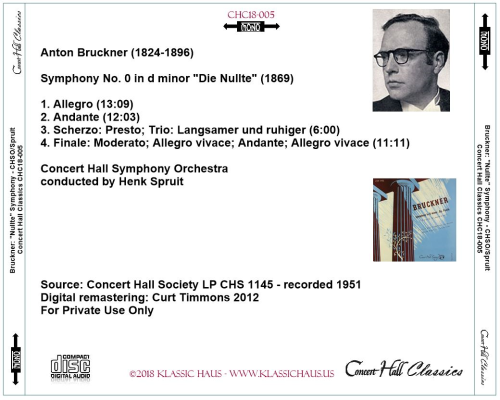 """First Additional product image for - Bruckner: Symphony No. 0 in d minor """"Die Nullte"""" (1869)"""