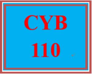 CYB 110 Week 1 Individual: Protecting Data   eBooks   Education