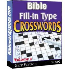 bible fillin type crossword puzzles vol.1