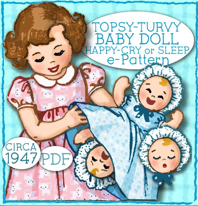 Topsy Turvey Upside Down Doll 15 8 Doll E Pattern Vintage