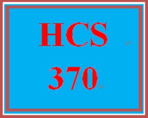 hcs 370 week 1 introduction to organizational behavior
