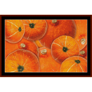 pumpkin patch - autumn cross stitch pattern by cross stitch collectibles