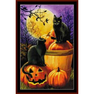 halloween night - fantasy cross stitch pattern by cross stitch collectibles