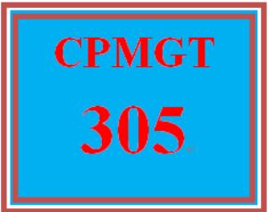 cpmgt 305 week 2 preliminary project plan