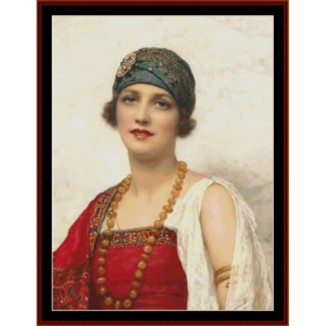the turban - w.c. wontner cross stitch pattern by cross stitch collectibles