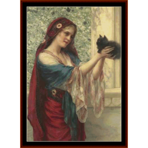 the willing captive - w.c. wontner cross stitch pattern by cross stitch collectibls