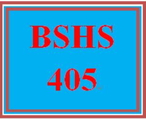 bshs 405 week 4 change agent