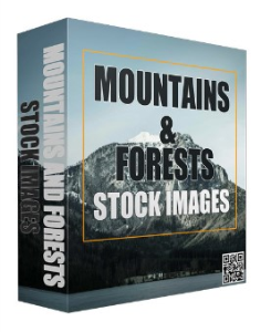 mountains and forests stock images (royalty free)