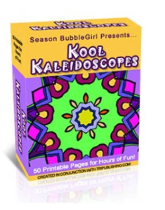 kool kaleidescopes coloring book