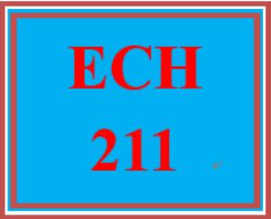 ech 211 week 1 reflection paper