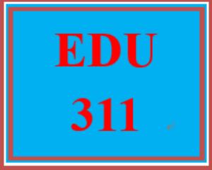 edu 311 entire course