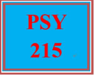 psy 215 week 3 experience paper