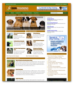 dog training ready made blog