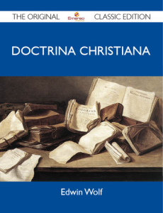 doctrina christiana by edwin wolf