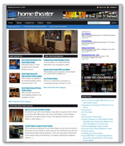 home theater niche blog