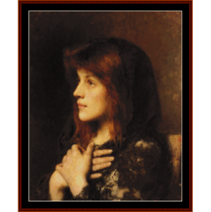 contemplation - harlamoff cross stitch pattern by cross stitch collectibles